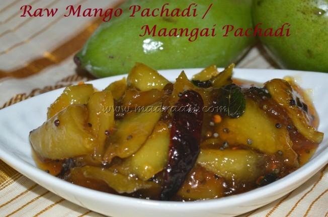 Raw Mango Pachadi / Maangai Pachadi