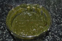 Grounded spinach paste