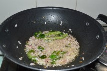 With onions, green chilies