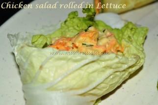 Chicken Salad in lettuce