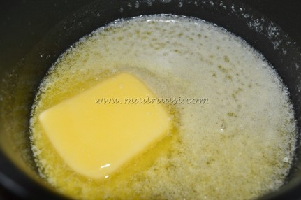 Butter getting melted