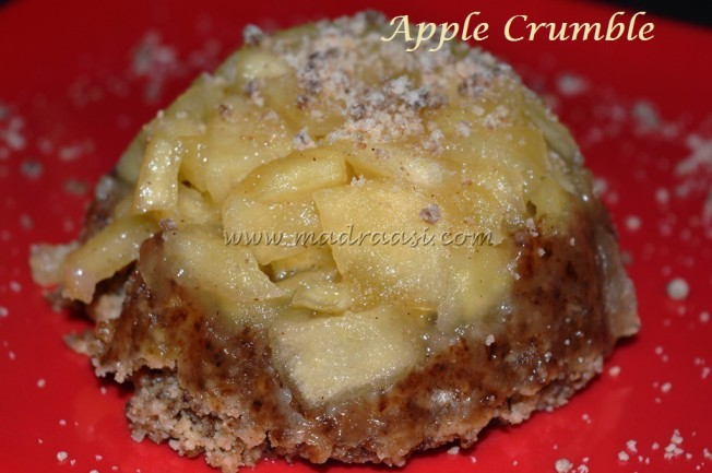 Apple Crumble topped with crumble