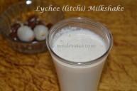 Lychee (litchi) Milkshake