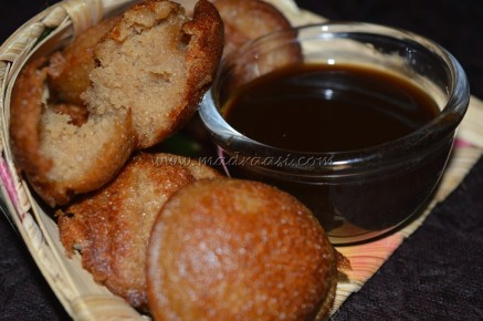 With palmjaggery syrup