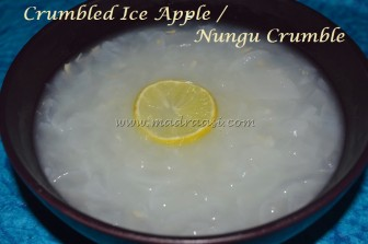 Nungu with lemon juice and sugar