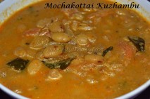 Mochakottai Kulambu / Val beans curry