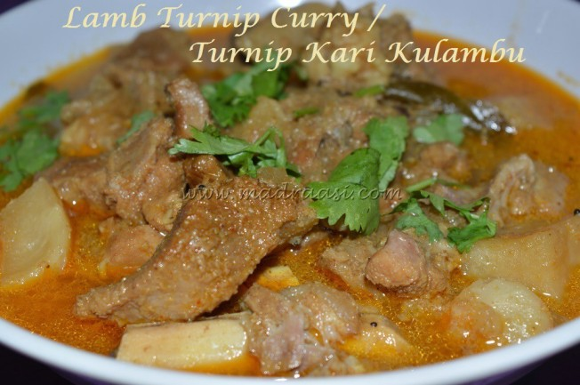 Lamb Turnip Curry / Turnip Kari Kulambu