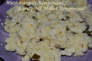 Kuthiravalli venpongal / Barnyard Millet Venpongal