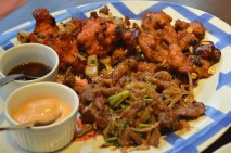 Oriental non-veg platter