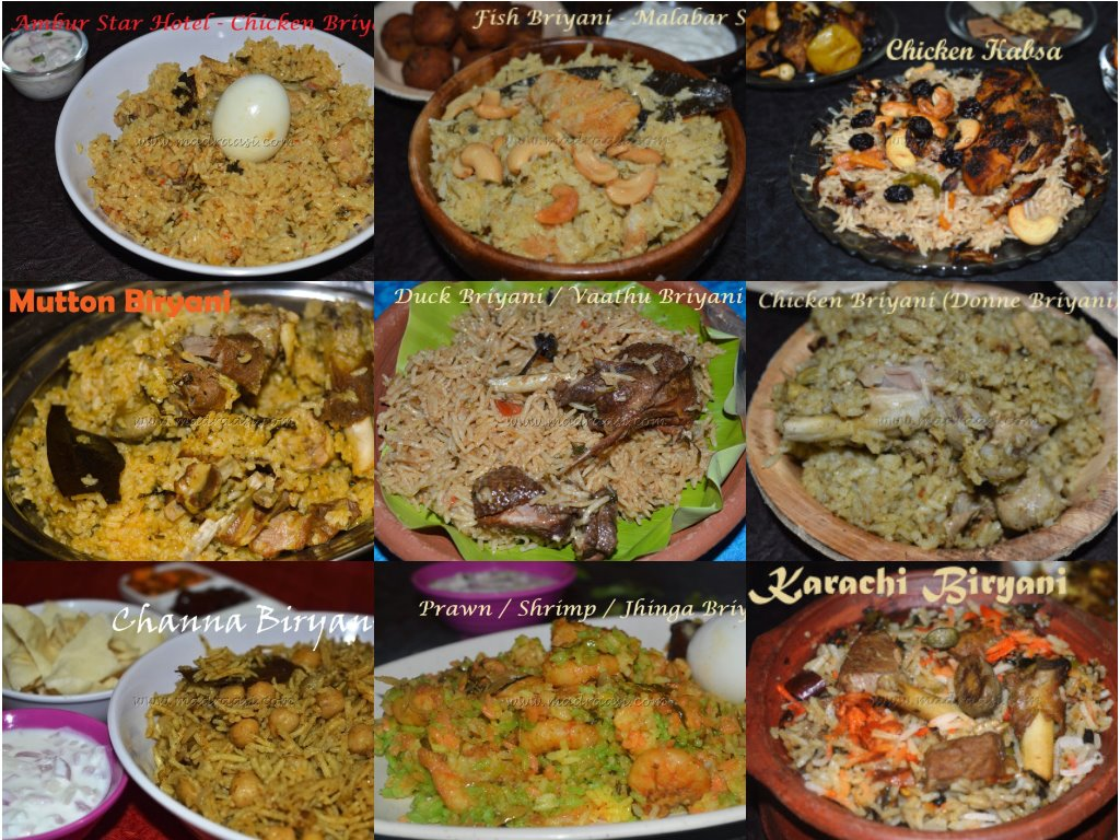 10+ Biryani Varieties for Diwali / Deepavali