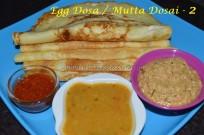 Egg dosa / Mutta Dosa - 2