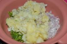 With mashed potato