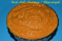 Red Chili Chutney / Thuvaiyal