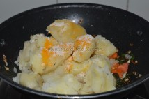 With pressure-cooked potatoes