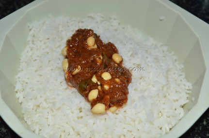 With steamed rice