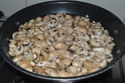 Mushroom getting blanched