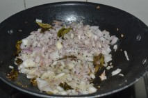 Spices and onions getting sauted