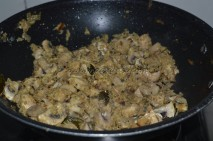 Getting cooked with mushroom