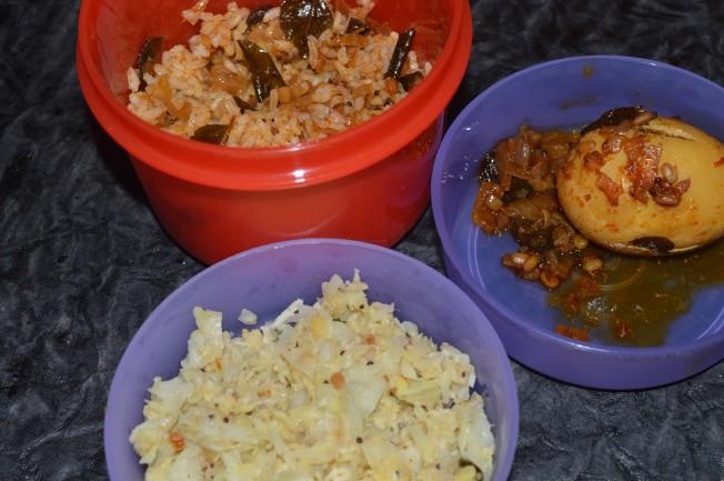 Chicken curry, Cabbage Stir-Fry