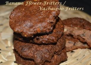 Banana Flower Fritters / Vazhaipoo Vadai