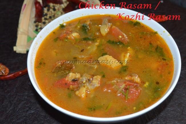 Kozhi Rasam / Chicken Rasam
