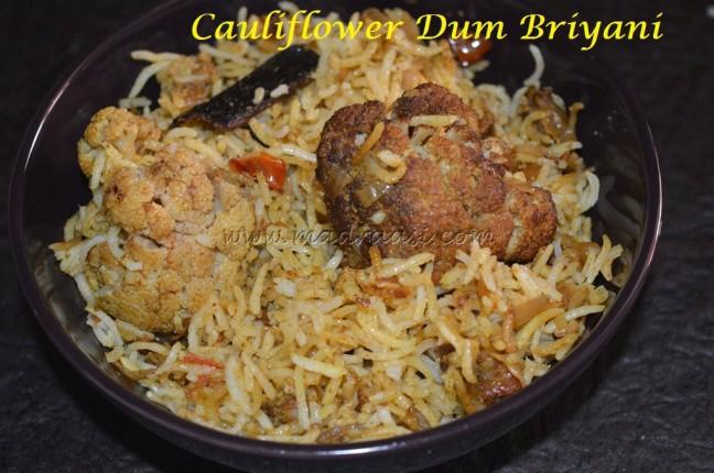 Cauliflower Dum Briyani