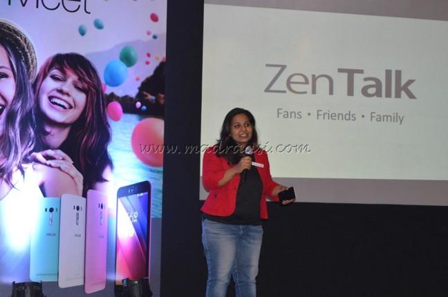 Priyanka demonstrating about ZenTalk