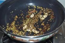 Ingredients getting roasted