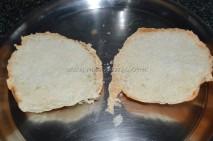 Bun sliced to equal halves