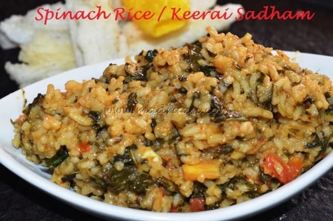 Keerai Sadham / Spinach Rice