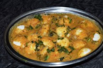 garnished with coriander leaves