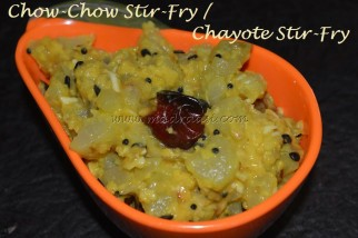 Chow-Chow Stir-Fry / Chayote Stir-Fry