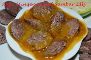 Ragi (Finger Millet) Sambar Idly