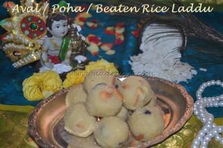 Aval / Poha / Beaten Rice Laddu