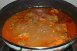 Oil separating on the top of the curry