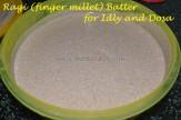 After fermentation - Ragi / finger Millet Batter