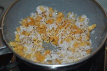 With grated coconut and crushed jaggery