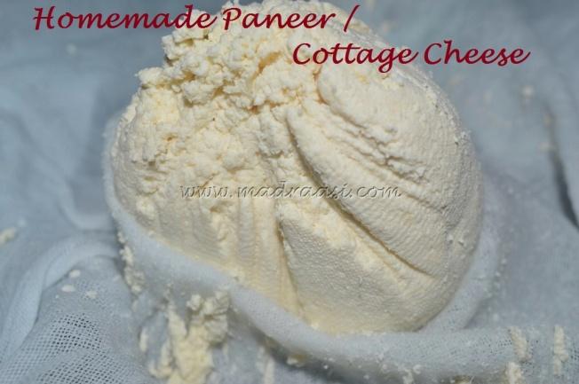 Homemade Paneer / Cottage Cheese