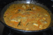 Plantain / Vazhaikai getting boiled