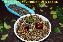 Ulundu Sundal / Blackgram sundal