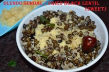 Ulundu Sundal / Blackgram sundal (sweet)