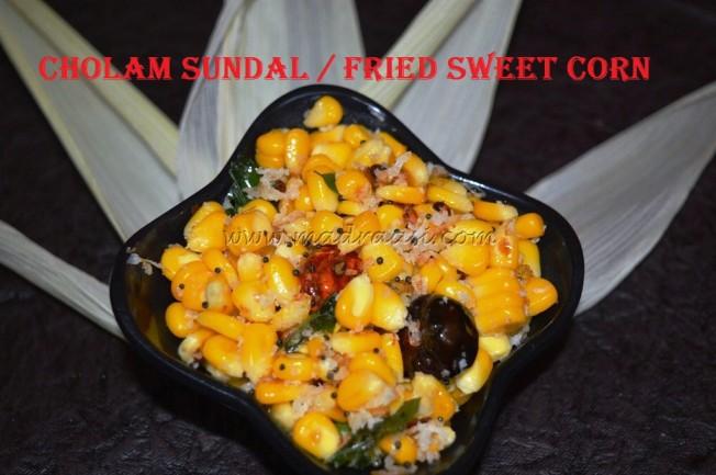 Cholam Sundal / Sweet Corn Sundal