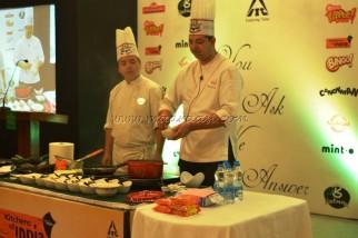 Chef Kamlesh Joshi, demonstrating