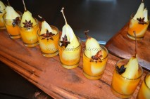 Poached pear with honey and orange