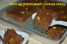 Oats Dryfruit Burfi (Sugar Free)
