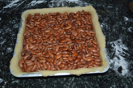 Filled with beans - before baking