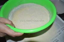 Lentil grounded to powder