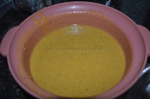 Besan with ghee/clarified butter