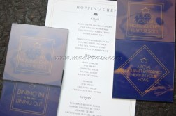 Lovely Coasters with their Menu