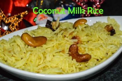 Coconut Milk Rice / Thengai Paal Sadham